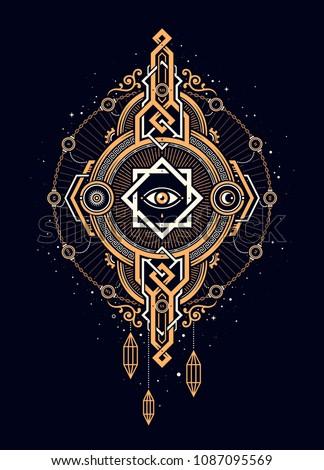 beautiful print in esoteric