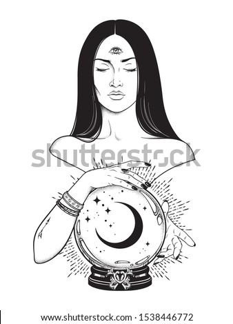 beautiful prophetess with third