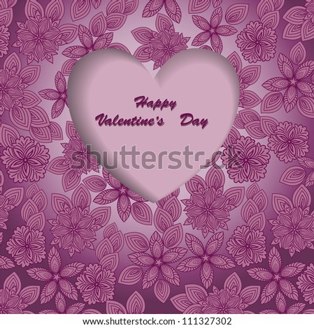 beautiful purple background for Valentine's Day