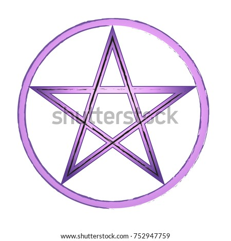 beautiful purple pentagram in a