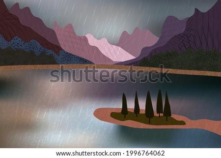 beautiful rainy day with