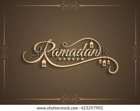 Beautiful Ramadan Kareem text design background