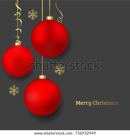 beautiful red christmas ball