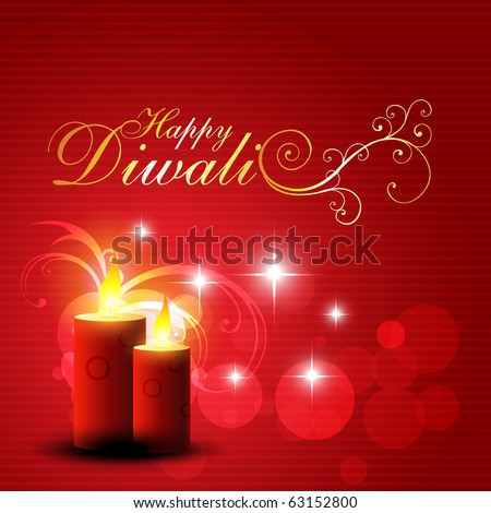 beautiful red color diwali glowing background