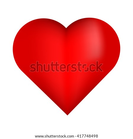beautiful red 3d heart red
