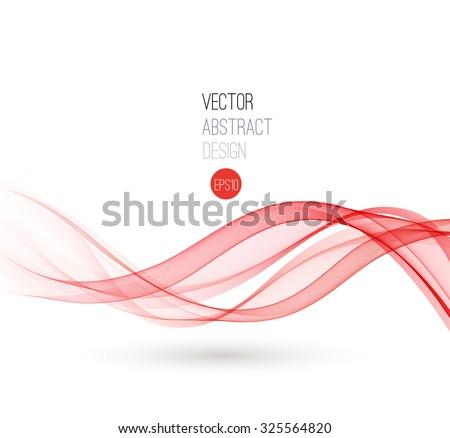 Beautiful red fractal. Waved Background. Vector Illustration