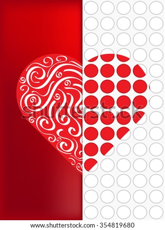 beautiful red icon vector heart