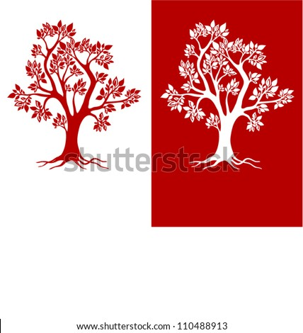 beautiful red tree design