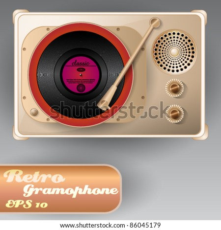Beautiful Retro Gramophone