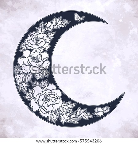 beautiful romantic crescent