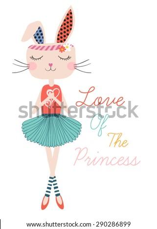 beautiful romantic rabbit girl