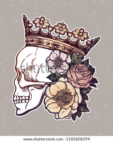 beautiful romantic skull
