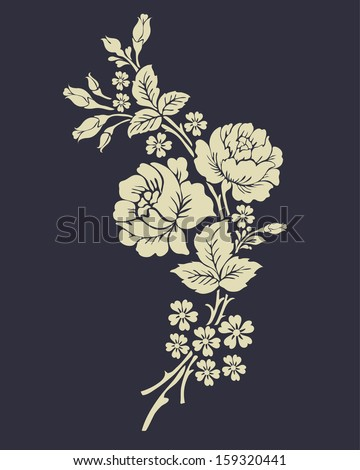 Beautiful Rose Flowers On The Dark Background.