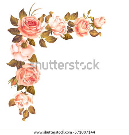 beautiful rose garland isolated