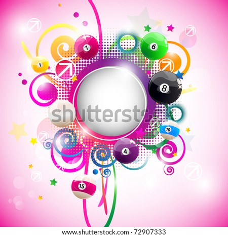 Beautiful round multicolored frame for text