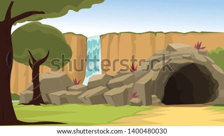 beautiful scenic cave hideout