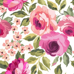 Beautiful seamless floral pattern. Flower vector background.