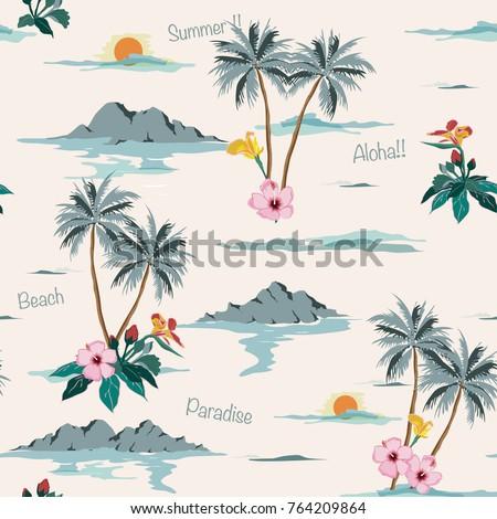 beautiful seamless island