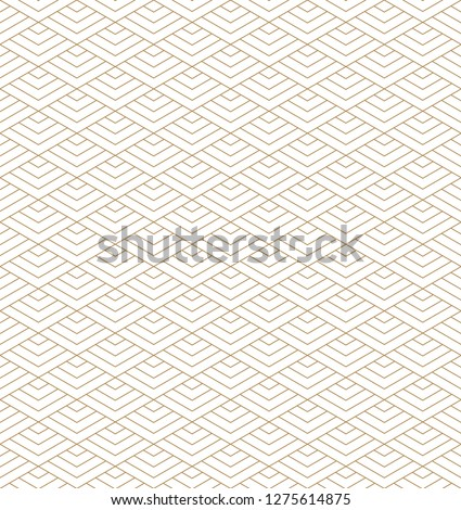 Beautiful Seamless japanese pattern kumiko for shoji screen, great design for any purposes. Japanese and chinese  pattern background vector. Japanese traditional wall, shoji.Fine lines.