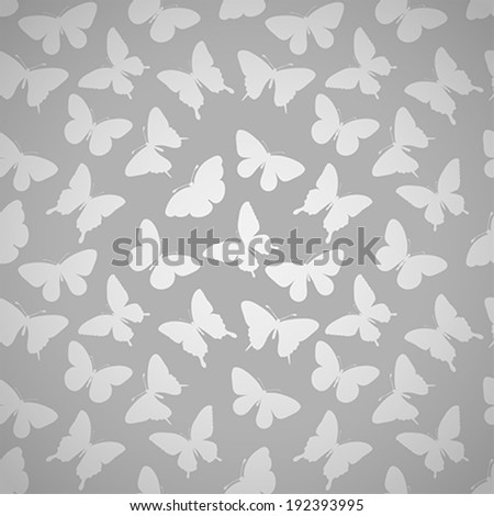 Beautiful seamless pattern with butterflies. Perfect for greeting card and invitations of the wedding, birthday, mother\'s Day.