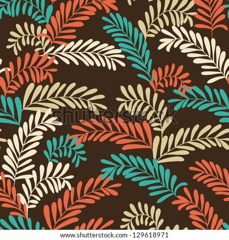 Beautiful seamless stylish leaf pattern. Vector illustration