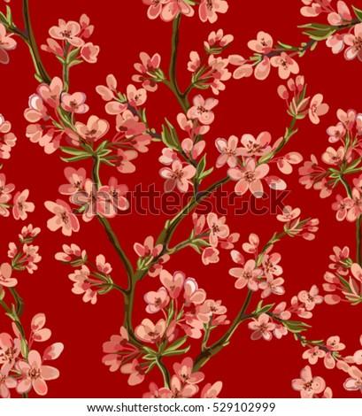 Red asian flower