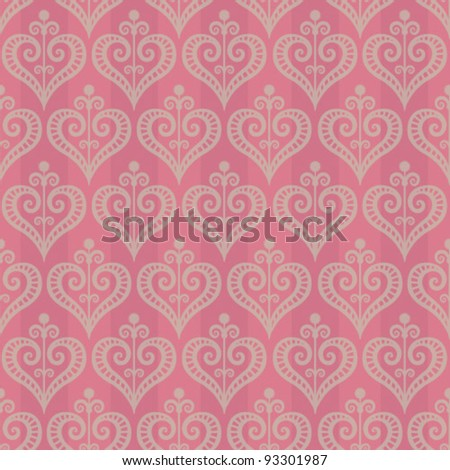 Beautiful seamless vector vintage pattern
