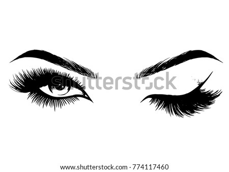 beautiful sexy women eyes makeup