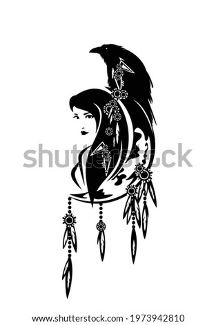 beautiful shaman woman