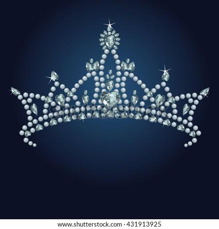 Beautiful shining true princess crown