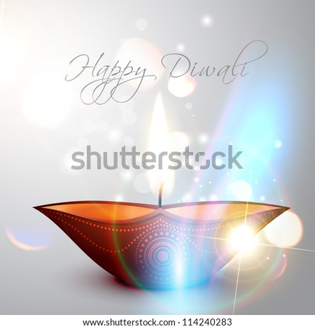 beautiful shiny happy diwali vector background