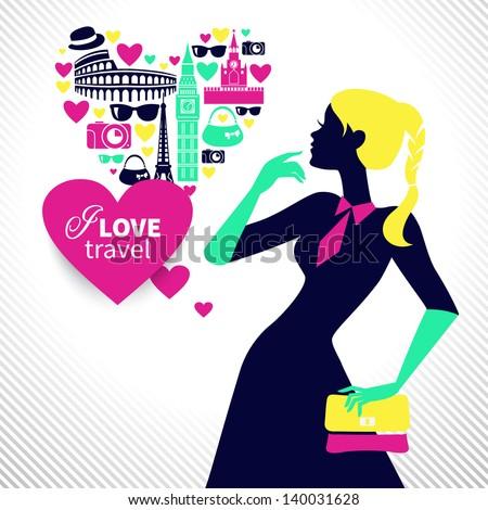 beautiful shopping girl dreams