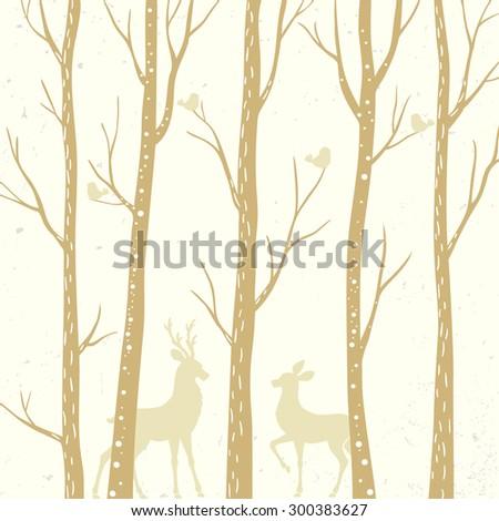 beautiful silhouette tall trees