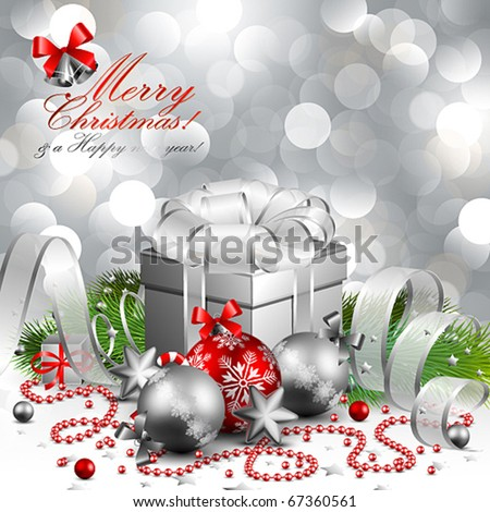beautiful silver christmas background