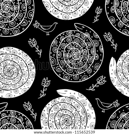 beautiful snake seamless pattern