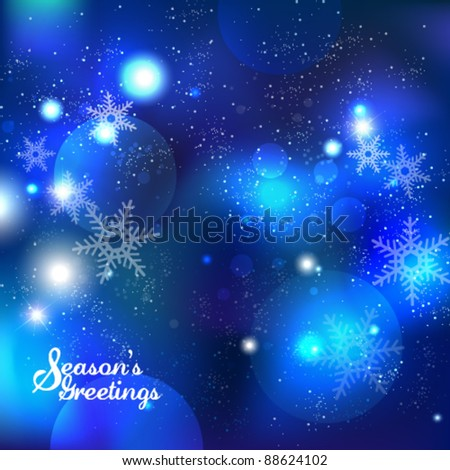 beautiful snowflakes vector background