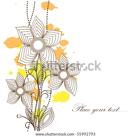 Beautiful soft card with flowers