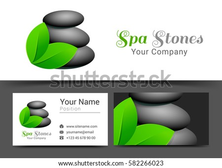 Beauty clinic identity free vector download free vector art stock beautiful spa stones yoga beauty corporate logo and business card sign template creative design with reheart Images