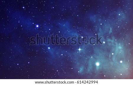 beautiful space with nebula