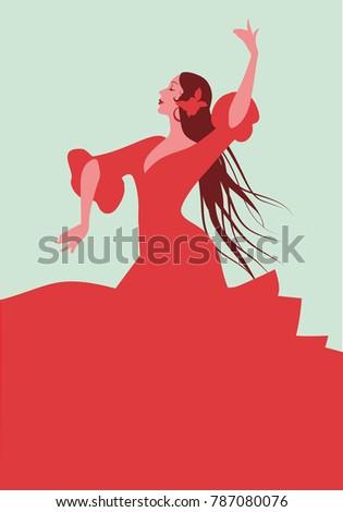 beautiful spanish flamenco