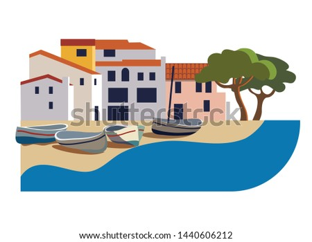 beautiful spanish town on the