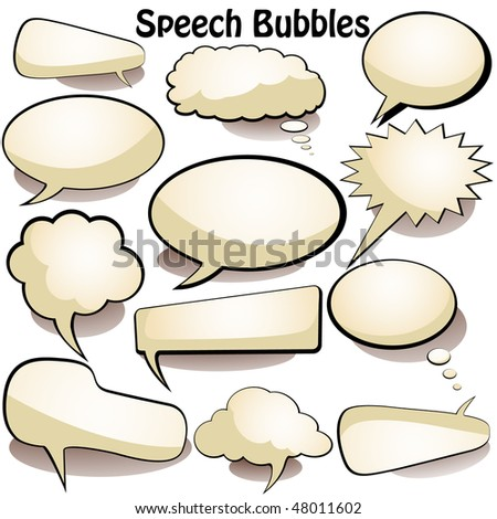 Beautiful Speech and thought vector bubbles