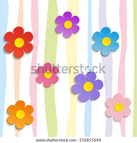 Beautiful Spring Flowers - vector illustration