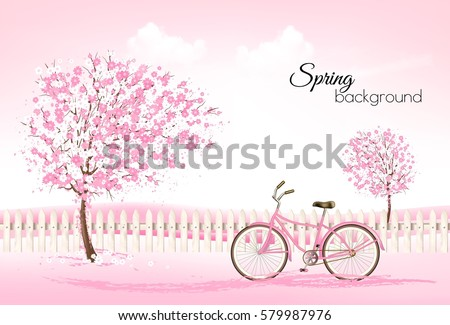 beautiful spring nature