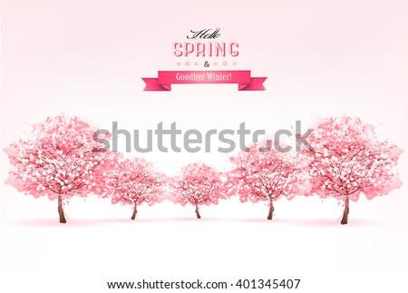 beautiful spring nature
