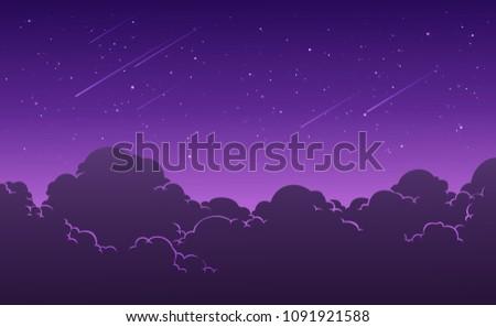 beautiful starry night sky