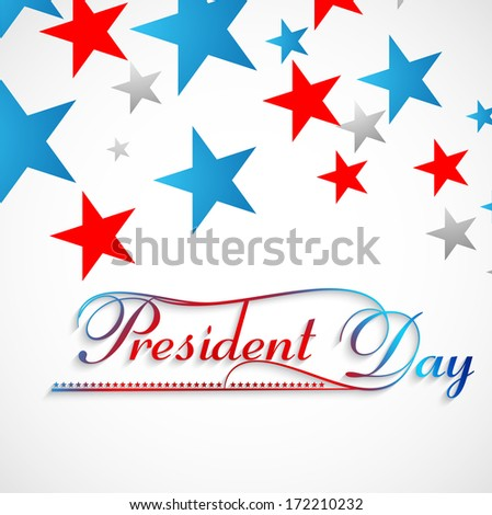 Beautiful stars Presidents day background colorful vector