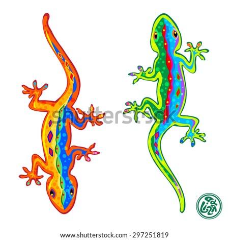 beautiful stylized colored