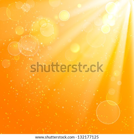 Beautiful summer background. Vector illustration, contains transparencies, gradients and effects.