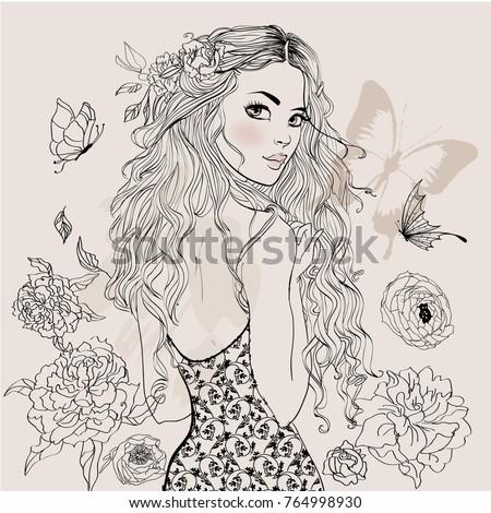 beautiful summer girl